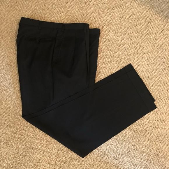 BRIONI Men's Black Dress Slacks • Waist 36